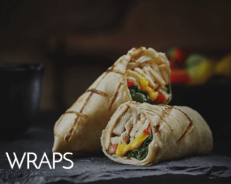 Chicken and Vegetarian Wraps